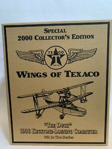 Ertl Wings of Texaco 1936 Keystone-Loening Plane Collectors Ed Die Cast Bank NIB