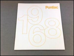 1968-Pontiac-56-page-Sales-Brochure-Catalog-GTO-Tempest-Bonneville-Grand-Prix