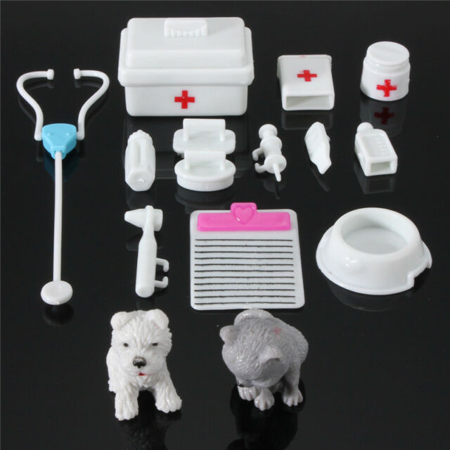 15Pcs Kids Doll Toys Mini Medical Equipment Toys Set Pet Baby Doll Accessories