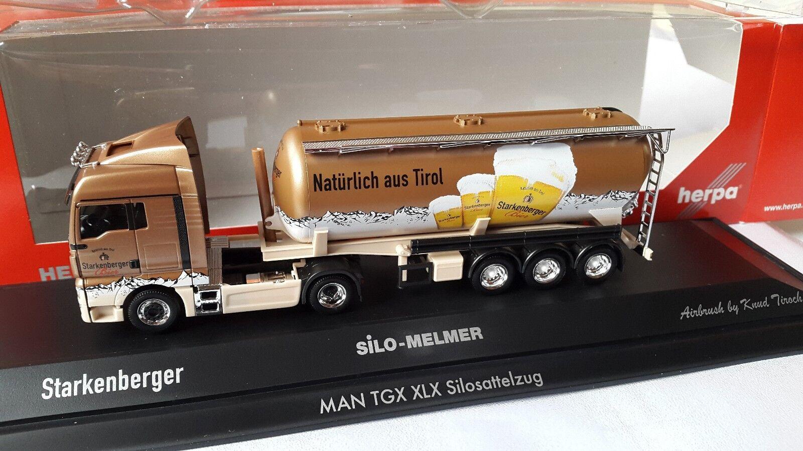 Herpa MAN TGX Silo Melmer-Forte BERGER Bière-Austria-Silo brièvement 121743 vitrine