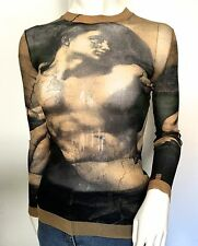 JEAN PAUL GAULTIER MAILLE MESH TOP SZ M Made in Italy