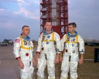 New 8x10 NASA Photo: Gus Grissom, Ed White & Roger Chaffee of Apollo 1