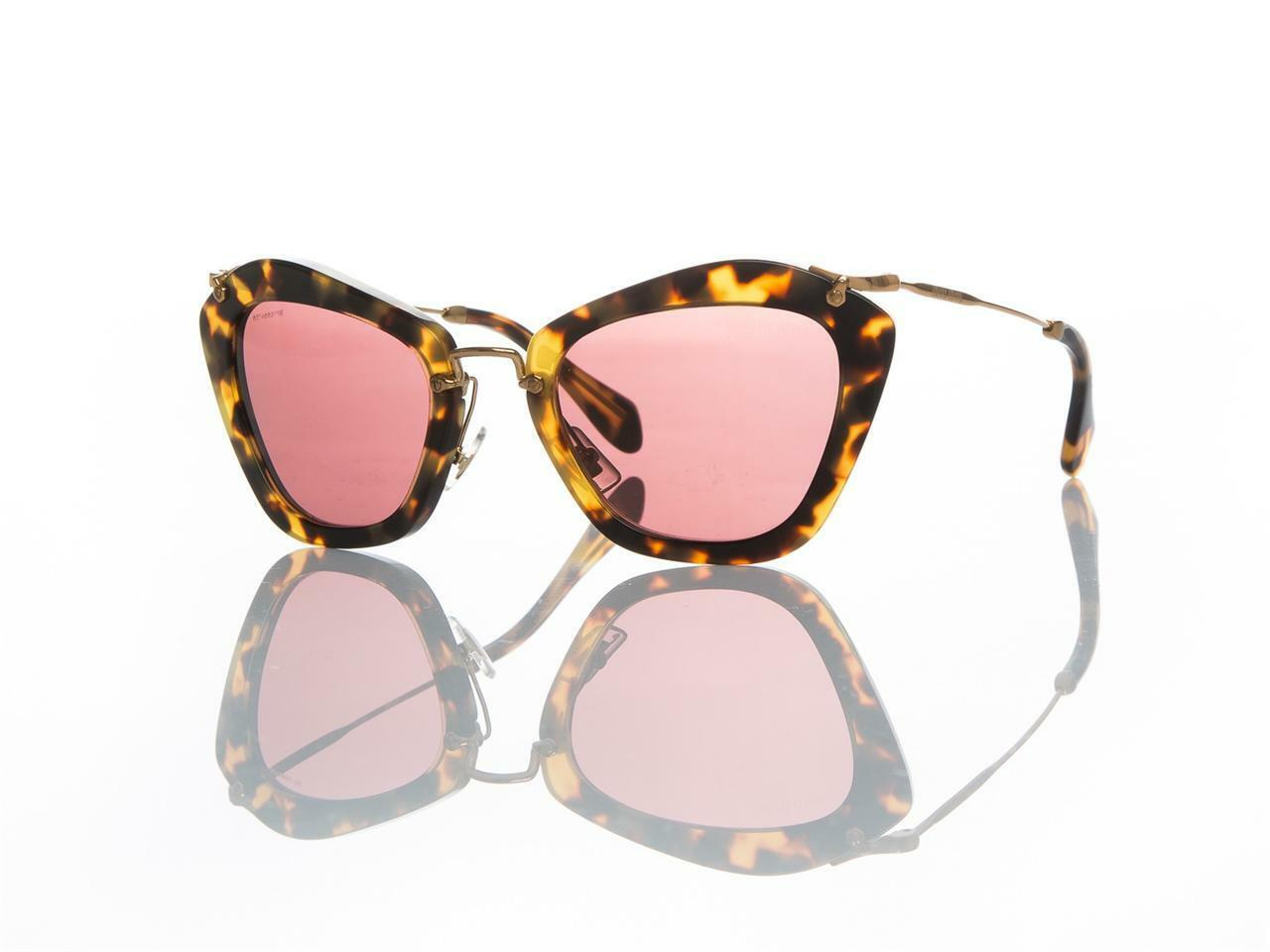 b16c417d9afe MIU MIU Women s Mu 10ns Noir Cateye Sunglasses 7s00a0 Yellow AVANA ...