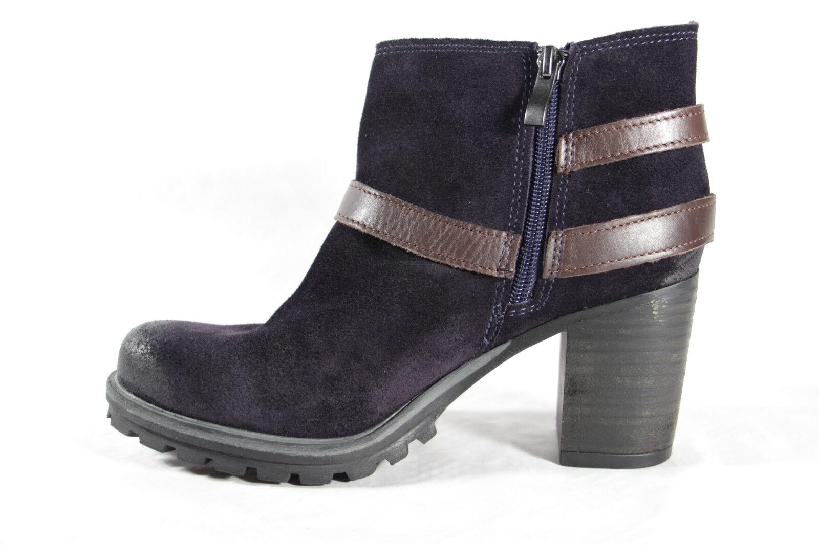 Marco Tozzi Leder Stiefelette Stiefel, blau, Leder Tozzi 25409  NEU f7ab55