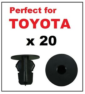 trims inner wing Wheel arch 10x Toyota//Lexus Lock Nut Screw Mounting Grommet