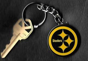 Pittsburgh-Steelers-Black-Logo-Keychain-Key-Chain-NFL