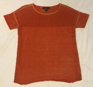 Tommy-Bahama-Women-039-s-Paradise-Orange-Short-Sleeve-Sweater-Size-XS-Tshirt