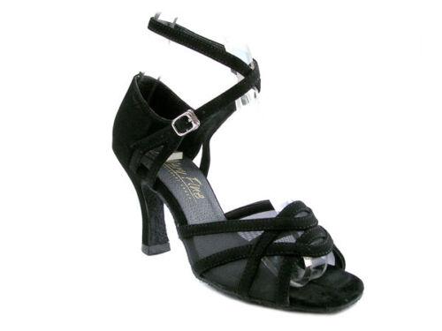 "1657 Brown Satin Salsa Ballroom Latin Nubuck Dance Shoes 2.5/"" 3/""  Very fine"