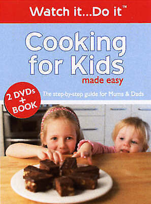 1 of 1 - Cooking for Kids Made Easy - 2 DVDs & Book (Watch it...Do it), Watch It...Do it,