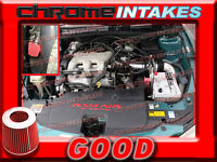 Black Red 97 98 99 00 01-03 Chevy Malibu 3.1 3.1l V6 Full Cold Air Intake 3pc