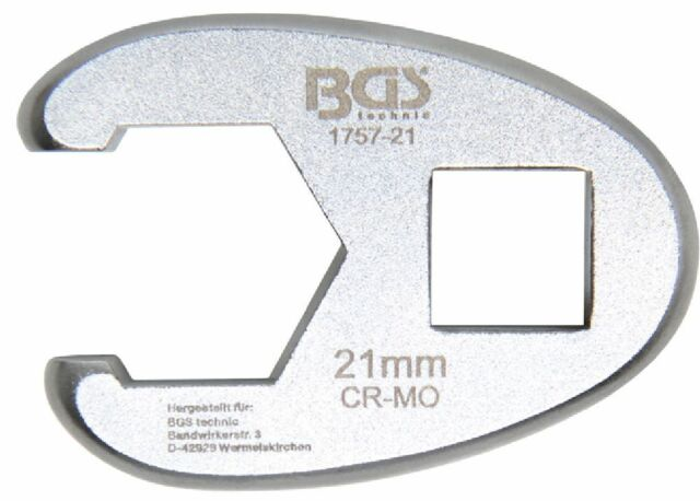BGS 1757-21 21mm Hahnenfuss-Schlüssel, 12,5 (1/2)