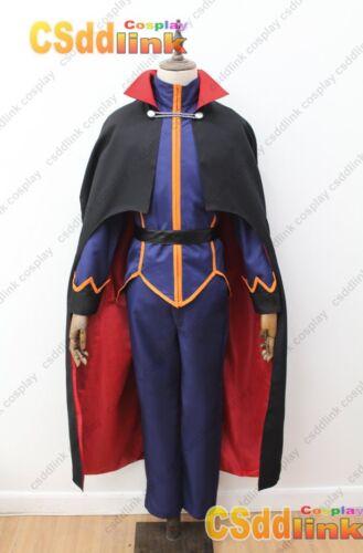 Pokemon Lance Cosplay Costume blue with cape halloween