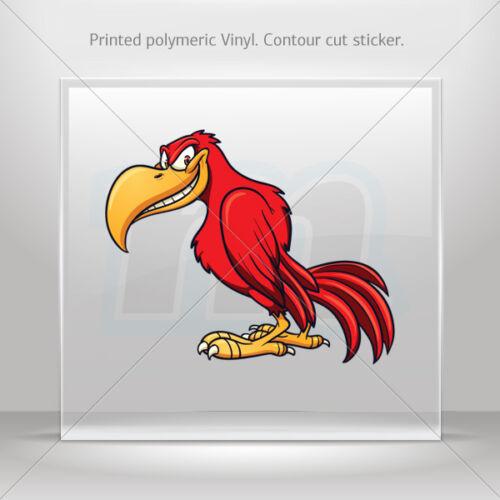 Stickers Sticker Red Crow Helmet Atv Bike polymeric vinyl Garage st5 W94X9