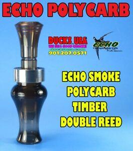 ECHO Duck Call Dymond Wood Barrel w//Polycarb OPEN WATER Double Reed /& Alum Band