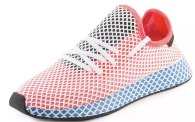 quality design ce27c c0bc7 Adidas Mens Originals Deerupt Runner Solar RedBlue Bird, Size 10, CQ2624