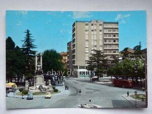 GALLARATE-Piazza-Autobus-bus-Vespa-Piaggio-Fiat-500-Varese-vecchia-cartolina