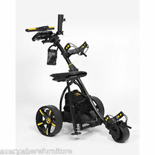 2017 Bat Caddy BLACK X3 Electric Motorized Golf Push Cart Trolley w/ ACCESSORIES