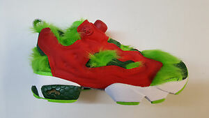 b89104e0757 Reebok Instapump Fury CV Grinch Semi Solar Green Red Men Sneakers ...