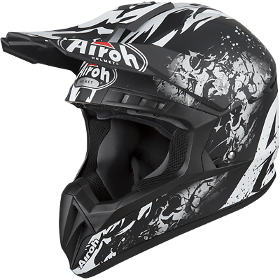 Casco Da Moto Cross Enduro Quad Airoh Switch Backbone Opaco 2019 Taglia M Alleviare I Reumatismi