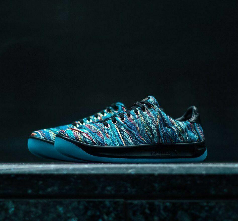 nuevo  para Hombre Puma X Coogi California Multi Zapatos Azul atolón Negro (367973-01)