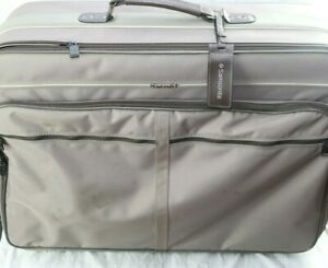 Vintage-1987-Samsonite-Soft-Shell-Luggage-Oyster-Grey