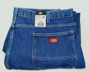 ce4efa51798f11 Dickies Men s Carpenter Jeans 44 x 30 Blue Straight Leg Relaxed Fit ...