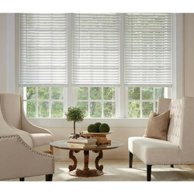"2-in White Faux Wood Blinds 34-in Actual 33.5/"" x 72/"" HOTT DEALS 592781"