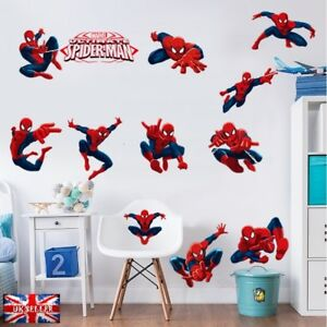 Image Is Loading 12pcs Marvel Avengers War Spiderman Wall Sticker Vinyl