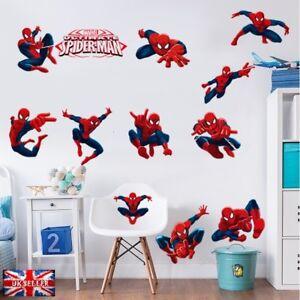 12pcs Marvel Avengers War Spiderman Wall Sticker Vinyl Decal Bedroom ...