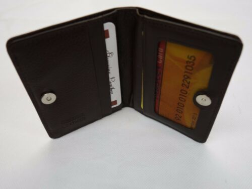 Top Quality Soft Cow Leather Slim Credit Card Holder  Magnetic Opening