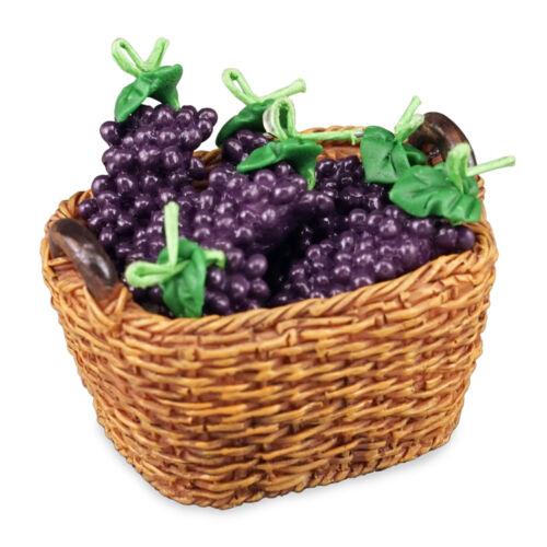 Reutter Porzellan Grape Basket//Basket of Fresh Grapes Dollhouse 1:12-1.768//5