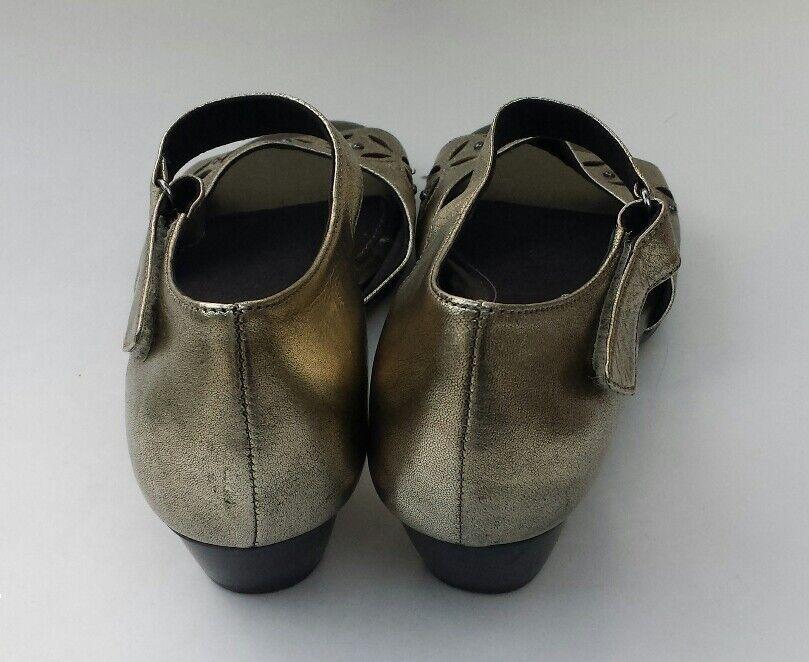 Aravon damen schuhe schuhe schuhe Gold Metallic open toe mary jane Größe 7 narrow 7AA aca101