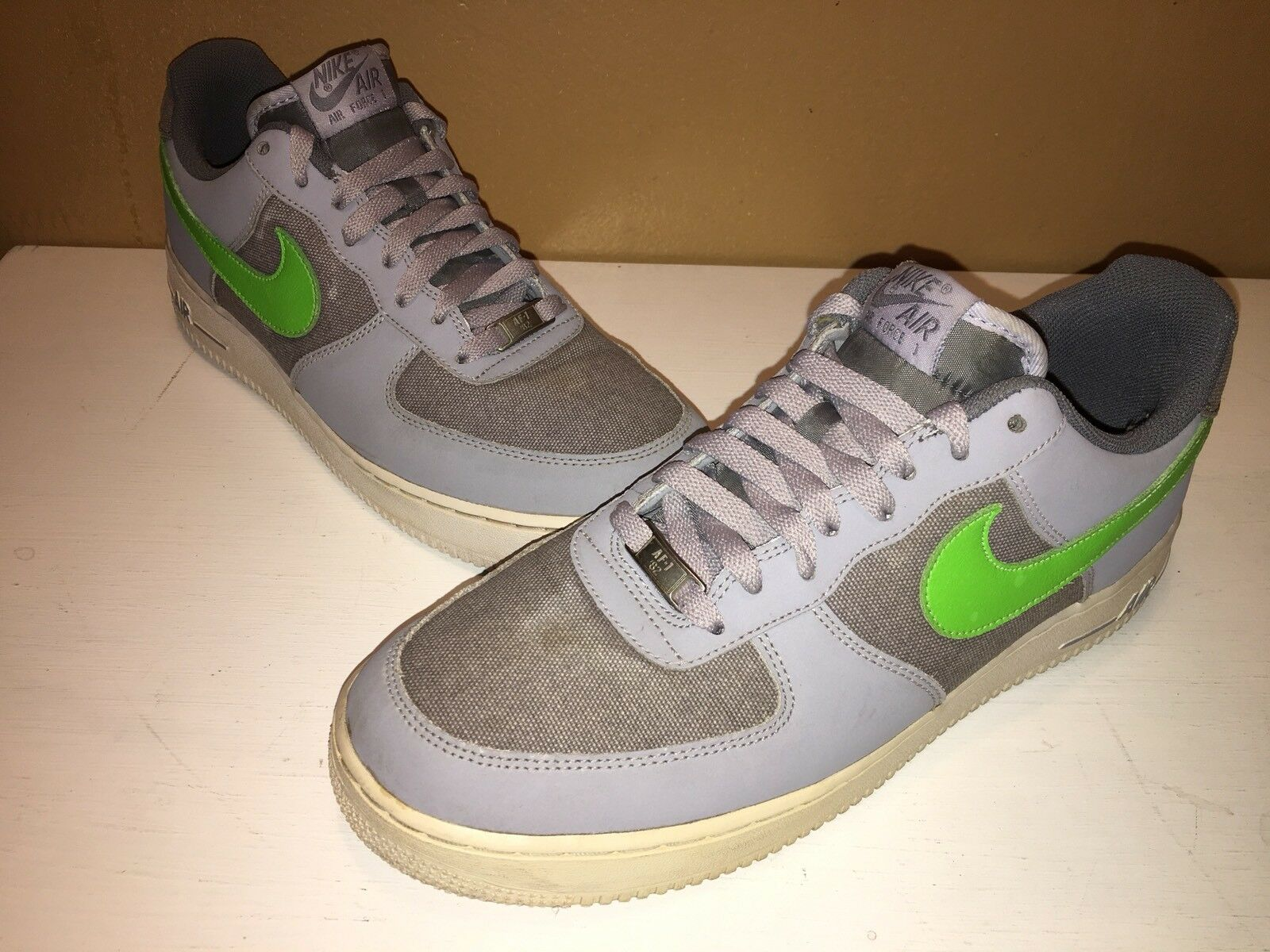 Nike Air force 1 Low Wolf Grey/action Green/white 488298 009 Comfortable