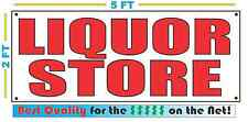 Red LIQUOR STORE 2X5 Banner Sign NEW Size Best Quality for The $$$