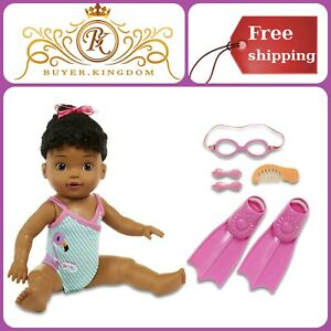 Battery Operated Swimming Baby Toy With Bathing Suit