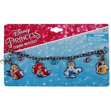 Disney Princess Charm Bracelet Girls Dress Up 4pc Pink Jewelry