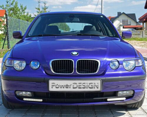 Sopracciglia per BMW SERIE 3 E46 Compact 2001-2004 ABS Plastica palpebre fari