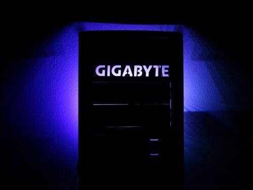 "5.25/"" GIGABYTE tray drive bay bracket filler computer pc modding Mod led custom"