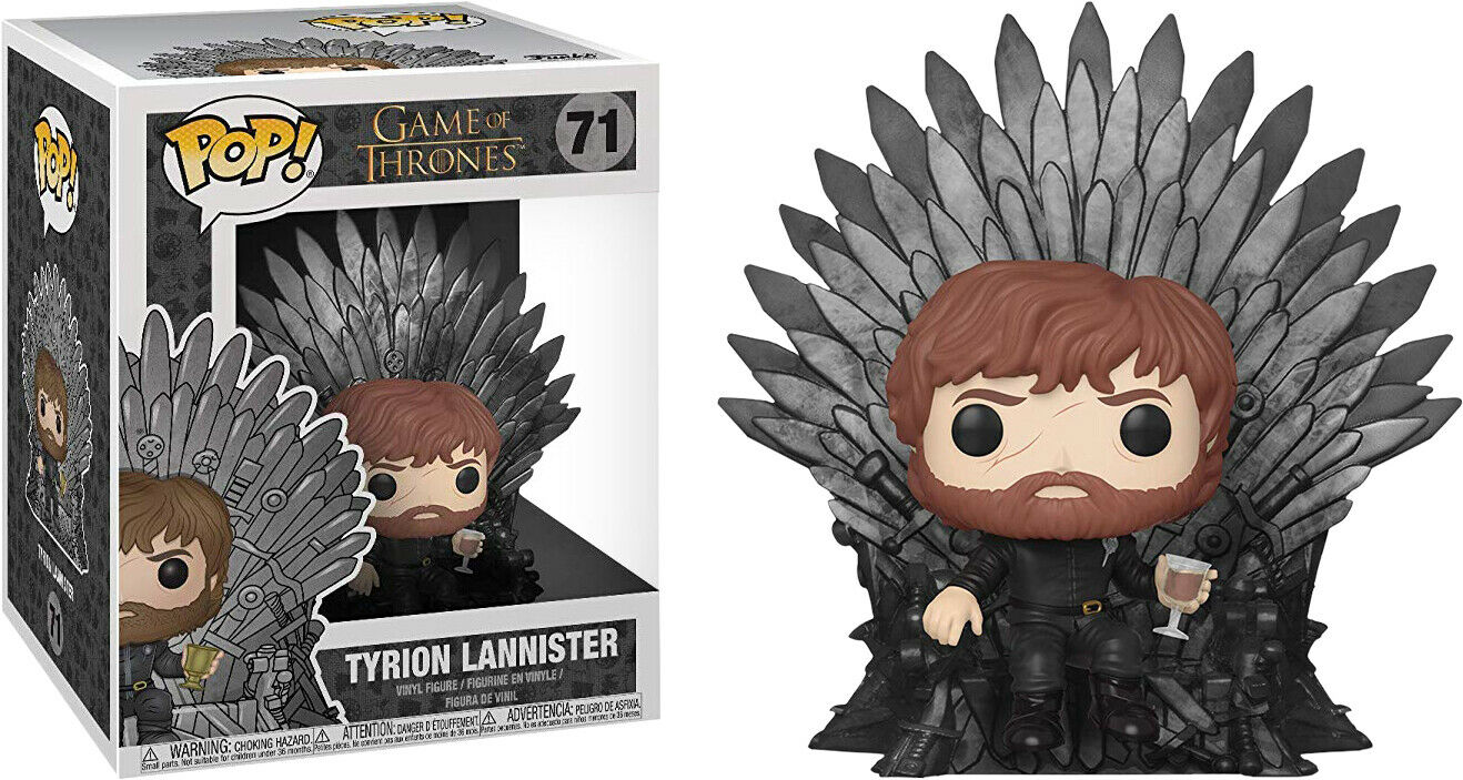 Game of Thrones - Tyrion Lannister on Iron Throne Deluxe Pop  Vinyl Figure