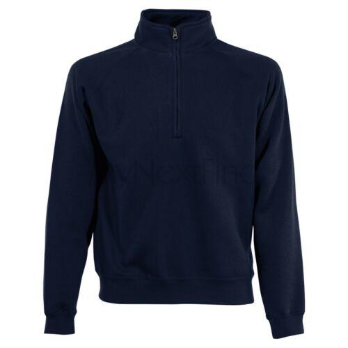 Fruit of the Loom Classic 80//20 Zip Neck Sweatshirt