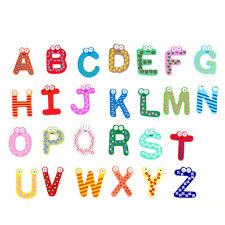 26pcs Colorful Wooden A-Z Alphabet Letter Fridge Magnet for Kids Education Toy