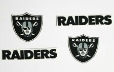8 Oakland Raiders Shields Fabric Applique Iron On Ons Set 3