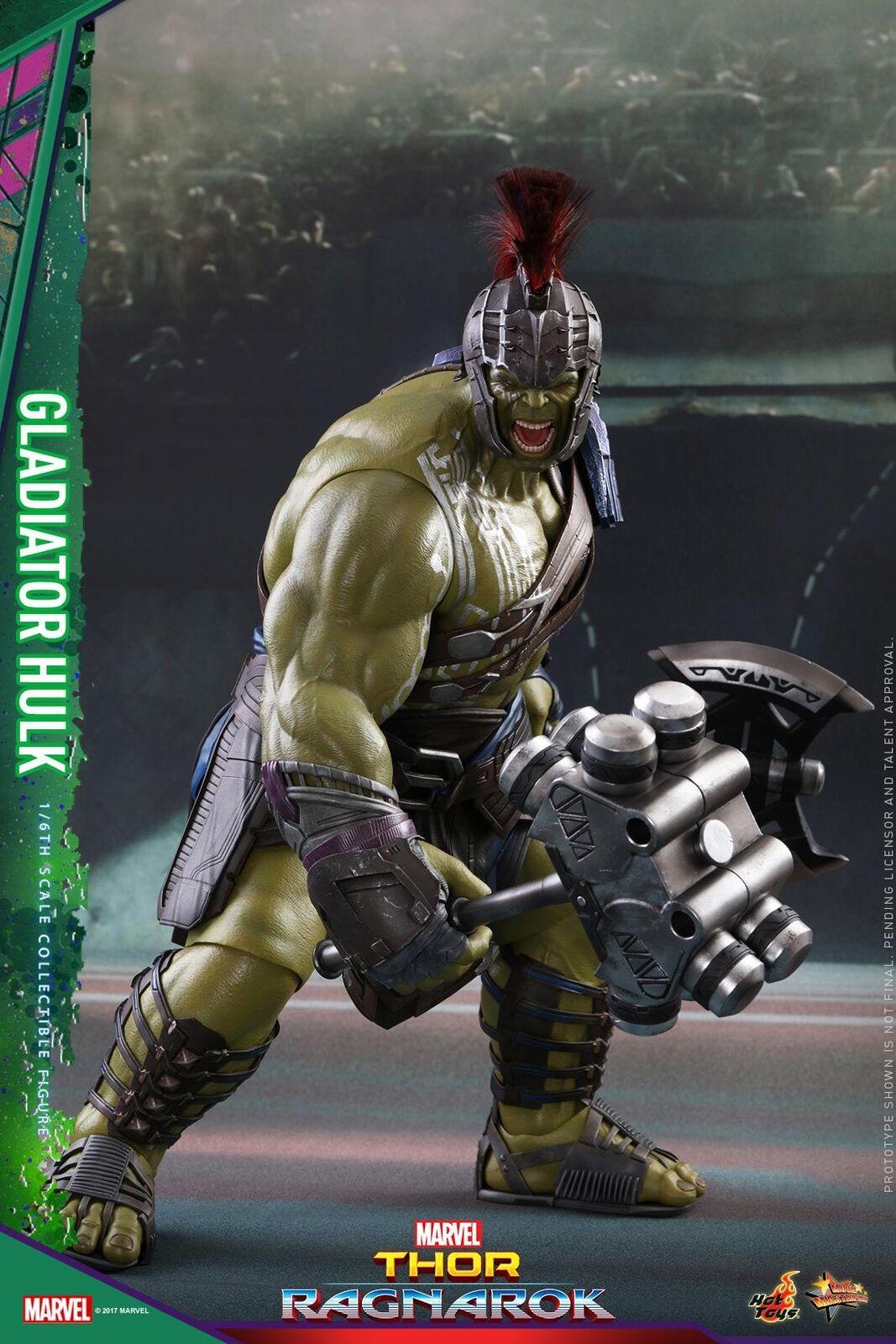 Hot Toys 16 Marvel Thor: Ragnarok MMS430 Gladiador Hulk Figura De Acción 45CM