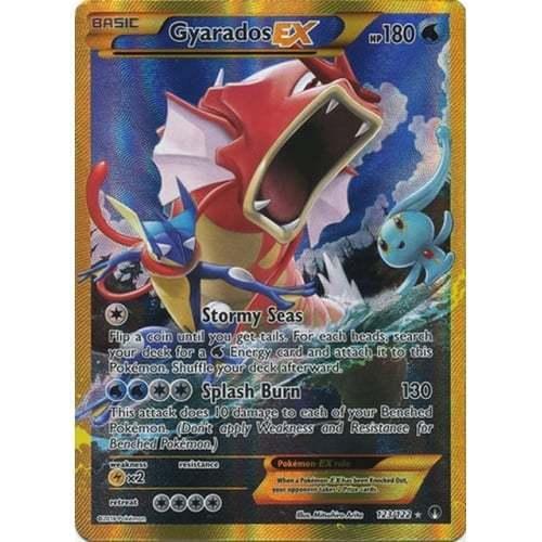 Secret Rare Pokemon XY Breakpoint Gyarados-EX #123/122 Pokémon