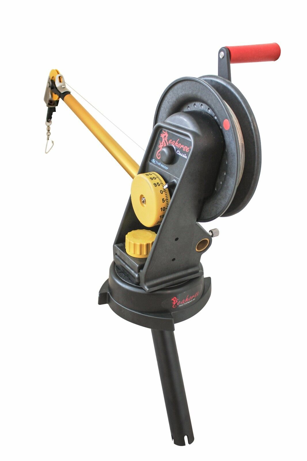 Seahorse Manual Downrigger with Swivel Base and Gimbal mount by Trollmaster