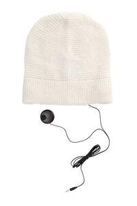 258f51f787b10 Image is loading REBECCA-MINKOFF-Cream-Knit-Headphone-Beanie-NWT
