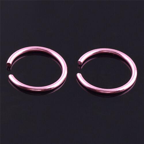 40x Colorful StainlessSteel Nose Rings Piercing Lips Hoop Piercings Jewelry PSK