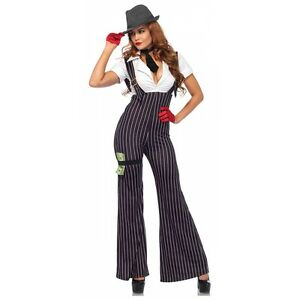 Image is loading Gangster-Costume-Adult-Sexy-Roaring-20s-Halloween-Fancy-  sc 1 st  eBay & Gangster Costume Adult Sexy Roaring 20s Halloween Fancy Dress | eBay