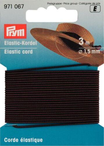 EUR 0,55 m Prym Elastic-Kordel braun 3m//Ø1,5mm Hutgummi Bastelgummi 971067