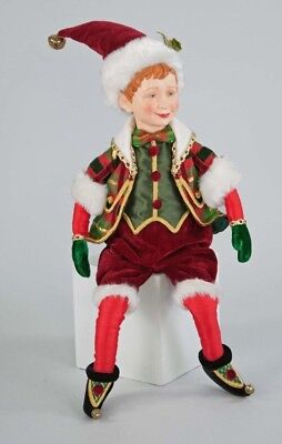 """Katherine/'s Collection 22"""" Traditional Christmas Elf Doll NEW 28-728491"""